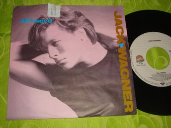"JACK WAGNER - ALL I NEED 7"" 1984"