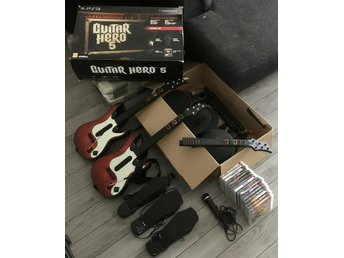 Guitar Hero SUPERPAKET till PS3 alla instrument mm
