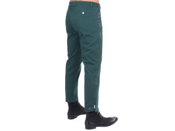 Costume National - Green cotton stretch pants