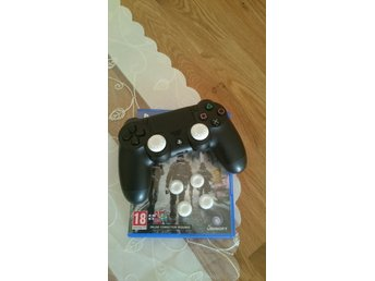 **Tumgrepp, Playstation 4, Ps4, för Analog Dualshock 4,PS3,XBOX 4 st, vita**