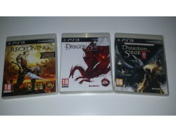 - 3-Pack RPG Reckoning Dragon Age Dungeon Siege III PS3 -