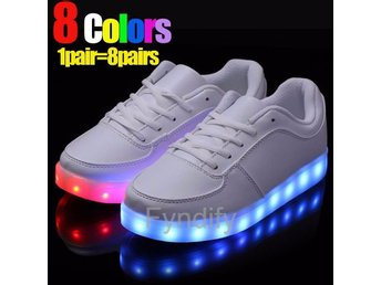LED-Sneakers Unisex Vit 43