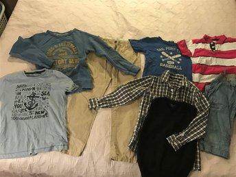 Klädpaket-chinos, shorts- & sweatshirt, t-shirts, skjorta, pullover: stl 134/140 - Kungsängen - Klädpaket-chinos, shorts- & sweatshirt, t-shirts, skjorta, pullover: stl 134/140 - Kungsängen