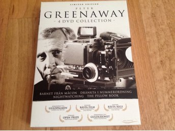 Peter Greenaway  4 dvd collection.  Limited edition. Utmärkt skick.