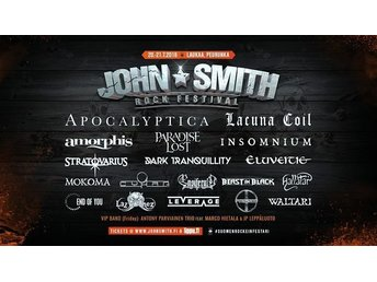 1 Ticket For John Smith Rock Festival 2018 (2 Days)