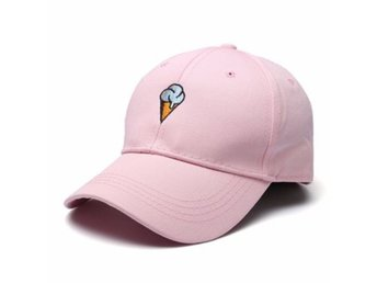 Women Cotton Ice Cream Embroidery Sport Men Hip-hop Cap S...