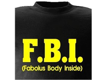 T-SHIRT FBI Fabolus body inside nr 107 Svart XXX-large