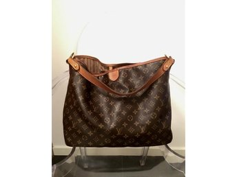 "Louis Vuitton väska ""Delightful MM Monogram"" med kvitto"