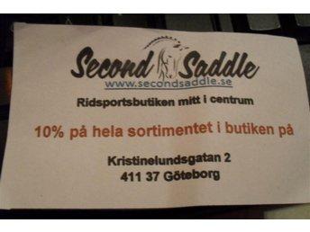 10% i ridsportsaffären Second Saddle i Göteborg. FRAKTFRITT - Göteborg - 10% i ridsportsaffären Second Saddle i Göteborg. FRAKTFRITT - Göteborg