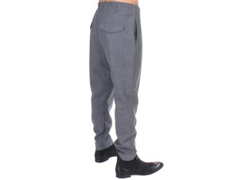 Costume National - Gray casual pleated pants