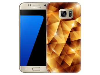 Samsung Galaxy S7 Skal Golden Polygons