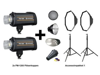 Photo Flash   set ;Bresser Flash set FM-1200 Action package 1