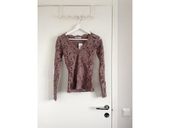 Gina tricot topp blus xs spets