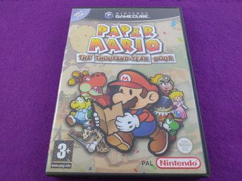 Gamecube Paper Mario The Thousan-Year Door Komplett Svenskt Mycket Fint Skick