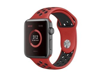 Sport Band 38/40mm Apple Watch Armband - (RED / BLACK)