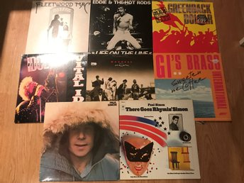 LP-Paket 8st Rock Pop Blandat Fleetwood Mac Billy Idol Mfl