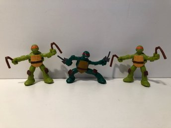 3 st Turtles action figurer / gubbar ~ TMNT
