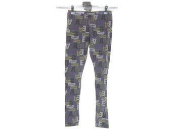 Name It, Leggings, Strl: 140, Grå/Lila/Gul