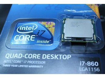 Intel® Core i7 860 Processor 2.8 Ghz up to 3.46 GHz) SOCKET 1156 *#REA PRIS#*