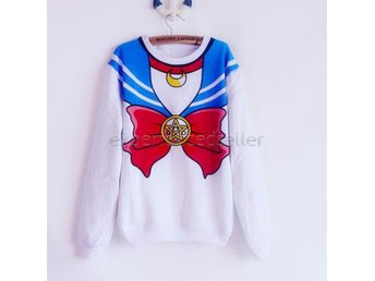 SAILOR MOON TRÖJA - Jumper Stl S Small Långärmad top Cosplay Anime Manga