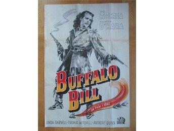 BUFFALO BILL Svensk bioaffisch från 1944 (70x100) Joel McCrea, Maureen O'Hara - Båstad - BUFFALO BILL Svensk bioaffisch från 1944 (70x100) Joel McCrea, Maureen O'Hara - Båstad
