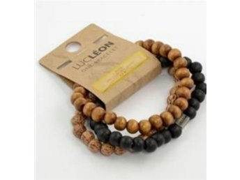 BLACK AND BROWN BRACELET LUCLEON - Karlstad - BLACK AND BROWN BRACELET LUCLEON - Karlstad