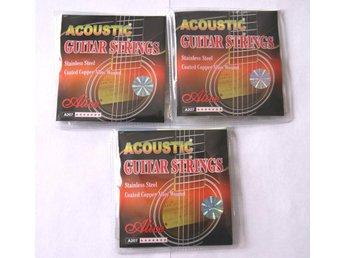 3 set stålsträngar, strängar till akustisk gitarr - Eskilstuna - 3 set stålsträngar, strängar till akustisk gitarr - Eskilstuna
