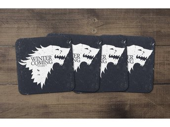Game Of Thrones Direwolf House Stark Wolves Coasters 4 Pack Underlägg Underlag