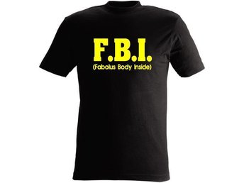 T-SHIRT FBI Fabolus body inside nr 107 Svart  XXXX-large