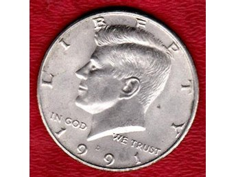 USA half dollar 1991 John F Kennedy