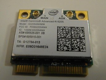 Intel Advanced-N 6205 802.11a/g/n 2x2dual-band 2.4/5GHz WiFi card kort Mini PCIe