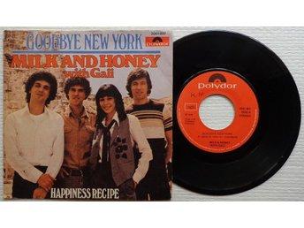 """MILK AND HONEY 'Goodbye New York' 1979 Norwegian 7"""" - Bröndby - MILK AND HONEY 'Goodbye New York' 1979 Norwegian 7"""" - Bröndby"""
