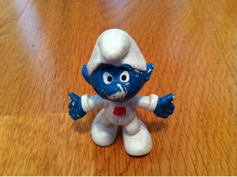 Smurf - Vit uniform. Peyo, W. Germany