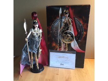 Barbie Athena Docka Lös med Box Ställ COA Gold Label Goddess Collection Ny Skick