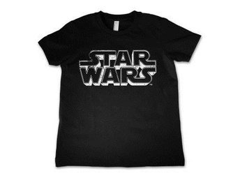 Star Wars T-shirt Distressed Logo Barn 4 år