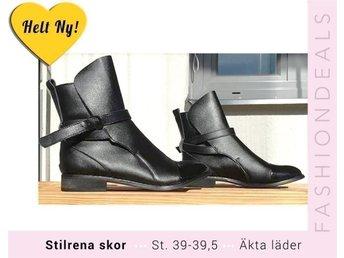 NYA KÄNGOR JODPHURS I ÄKTA SKINN JODHPURS ST:39 - 39,5 // svarta boots - Varmdö - NYA KÄNGOR JODPHURS I ÄKTA SKINN JODHPURS ST:39 - 39,5 // svarta boots - Varmdö