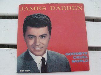 JAMES  DARREN -  GOODBYE CRUEL WORLD  COLPIX  EP  RÖD VINYL