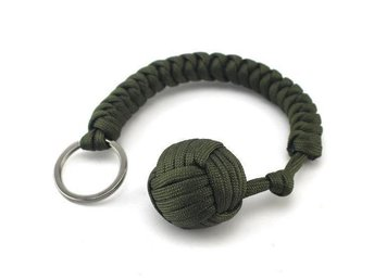 Fist Steel Ball Bearing Self Defense Survival Key Chain arme green