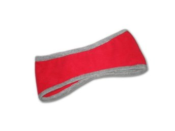 2-pack Fleece pannband - Rött