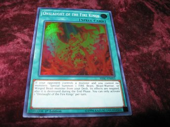 YU-GI-OH ONSLAUGHT OF THE FIRE KINGS FOILAT HISU-EN055