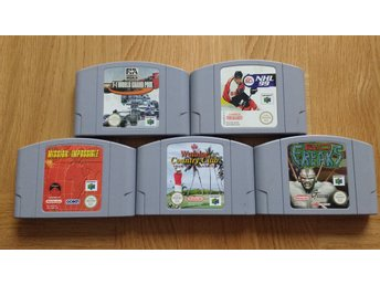 Nintendo 64: 5 spel Bio Freaks NHL F1 Mission Impossible Golf