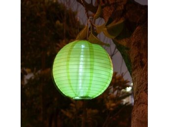 2st LED Lampa Round Green Solar Lantern Led Lampor For Festive Party Decorative