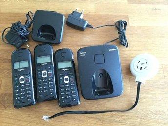 Siemens AS180 trådlösa telefoner dect 3 st handenheter - Bro - Siemens AS180 trådlösa telefoner dect 3 st handenheter - Bro