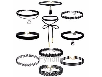 Choker Necklace Set 9Pcs