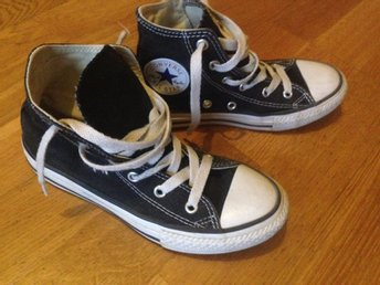 Converse all star svarta  (EUR 32/19.5cm)