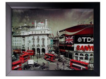 Hängande vägg Hem Inramat konstverk Iconic 3D 44x34cm - London Holiday