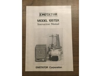 Emotator 105TSX manual