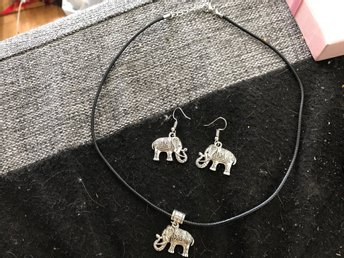 Örhängen earrings necklace halsband kit jewelery elefanter elephants Indiska