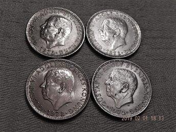 5 krona 1972 utan strömmar värde