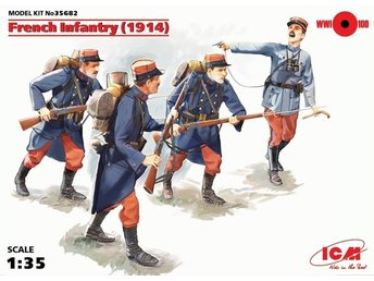 ICM FRENCH INFANTRY 1914 1/35